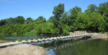 В мае 2017 года реализован объект «под ключ» сезонной мостовой переправы через реку Ворона, Тамбовская область